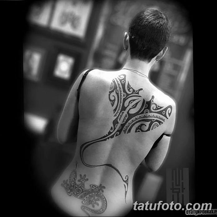Фото тату скат манта 24.10.2018 №131 - tattoo manta photo - tatufoto.com