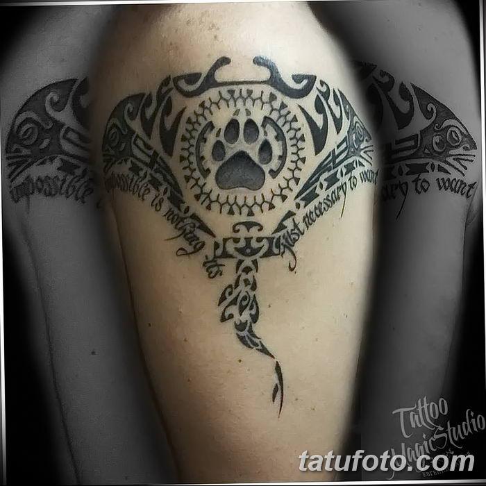 Фото тату скат манта 24.10.2018 №156 - tattoo manta photo - tatufoto.com