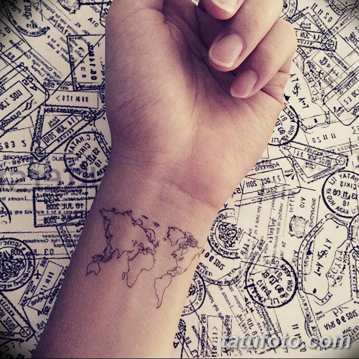 World Map Tattoo Wrist Map Tattoo Ideas | Get New Tattoos For 20 ...