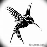 Фото эскиз тату колибри 15.10.2018 №008 - sketch of hummingbird tattoo - tatufoto.com