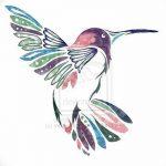 Фото эскиз тату колибри 15.10.2018 №010 - sketch of hummingbird tattoo - tatufoto.com