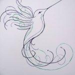 Фото эскиз тату колибри 15.10.2018 №011 - sketch of hummingbird tattoo - tatufoto.com