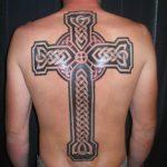 православный крест на спине тату 8
