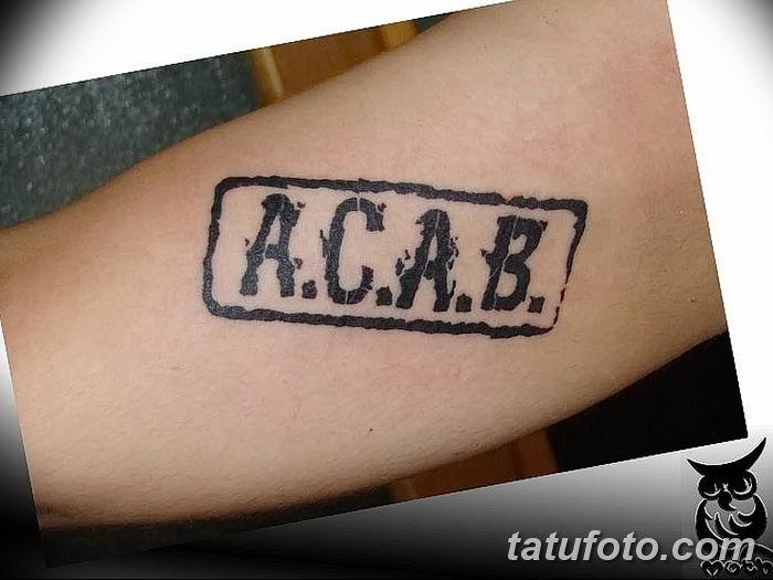 Фото Тату acab 02.11.2018 №050 - Acab tattoo - tatufoto.com