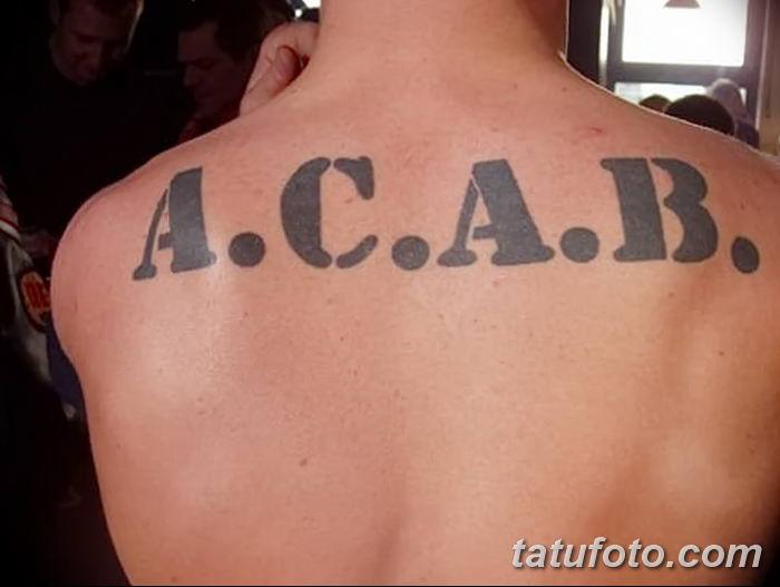 Фото Тату acab 02.11.2018 №061 - Acab tattoo - tatufoto.com