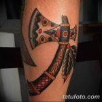 Фото рисунка Тату томагавк 06.11.2018 №098 - photo Tomahawk tattoo - tatufoto.com