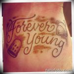 Фото рисунка Тату forever young 03.11.2018 №011 - Tattoo forever young - tatufoto.com