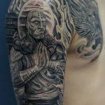 Фото рисунка татуировки Монах 21.11.2018 №010 - Monk tattoo photo - tatufoto.com