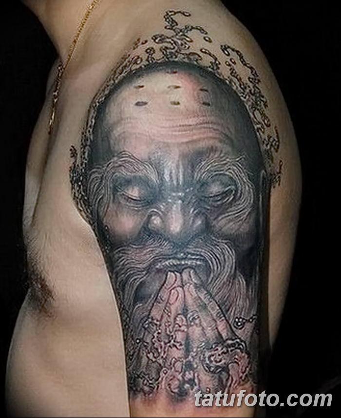 Фото рисунка татуировки Монах 21.11.2018 №013 - Monk tattoo photo - tatufoto.com