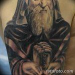 Фото рисунка татуировки Монах 21.11.2018 №032 - Monk tattoo photo - tatufoto.com