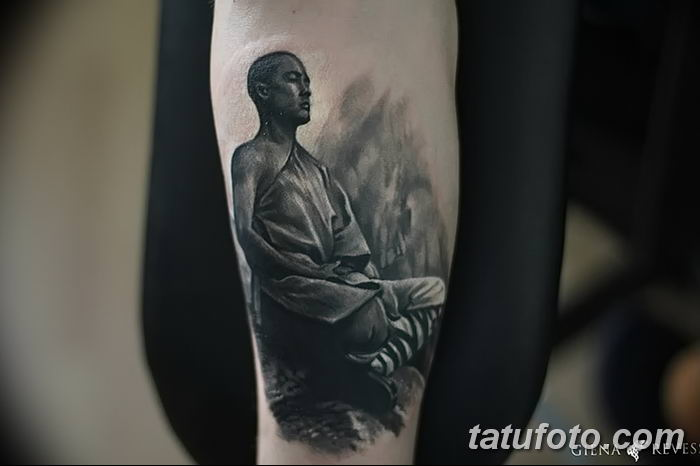 Фото рисунка татуировки Монах 21.11.2018 №035 - Monk tattoo photo - tatufoto.com