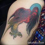 Фото рисунка тату гарпия 06.11.2018 №036 - photo tattoo harpy - tatufoto.com