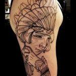 Фото рисунка тату гарпия 06.11.2018 №048 - photo tattoo harpy - tatufoto.com