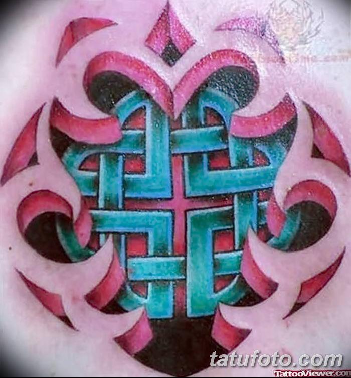Фото рисунка тату кельтский узел 13.11.2018 №072 - tattoo photo celtic knot - tatufoto.com
