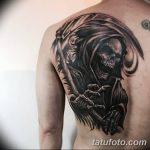 Фото рисунка тату коса 06.11.2018 №020 - scythe tattoo photo - tatufoto.com