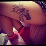Фото рисунка тату на ноге 26.11.2018 №015 - photo of tattoo on leg - tatufoto.com