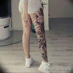 Фото рисунка тату на ноге 26.11.2018 №026 - photo of tattoo on leg - tatufoto.com
