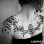 фото рисунка Мехенди на женской груди 30.11.2018 №035 - Mehendi breast - tatufoto.com