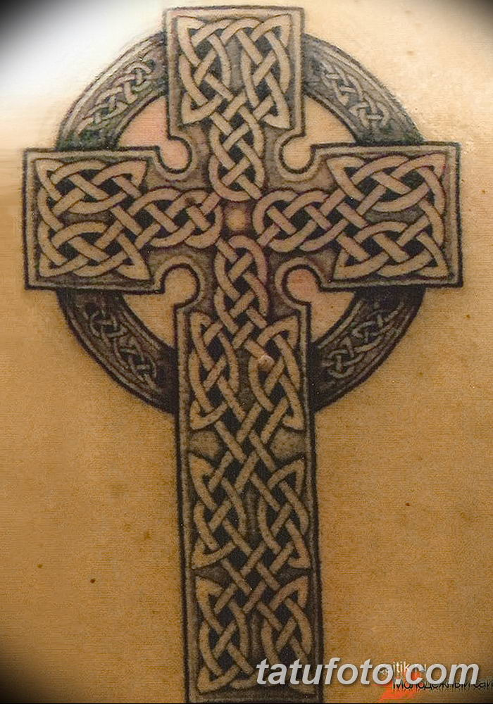 фото рисунка тату кельтский крест 30112018 159 Tattoo