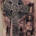 фото рисунка Тату кельтский крест 30.11.2018 №187 - tattoo Celtic cross - tatufoto.com