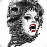 фото рисунка тату вампир 19.11.2018 №091 - photo tattoo vampire - tatufoto.com