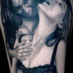 фото рисунка тату вампир 19.11.2018 №114 - photo tattoo vampire - tatufoto.com