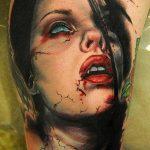 фото рисунка тату вампир 19.11.2018 №117 - photo tattoo vampire - tatufoto.com