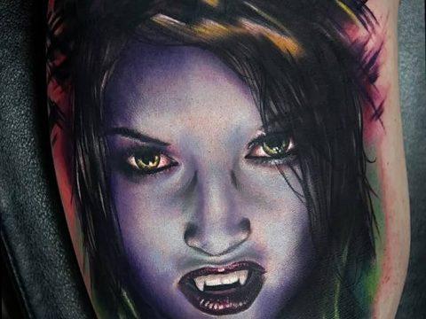 фото рисунка тату вампир 19.11.2018 №170 - photo tattoo vampire - tatufoto.com