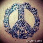 фото рисунка тату пацифизм - знак мира 14.11.2018 №004 - Tattoo pacifism - tatufoto.com