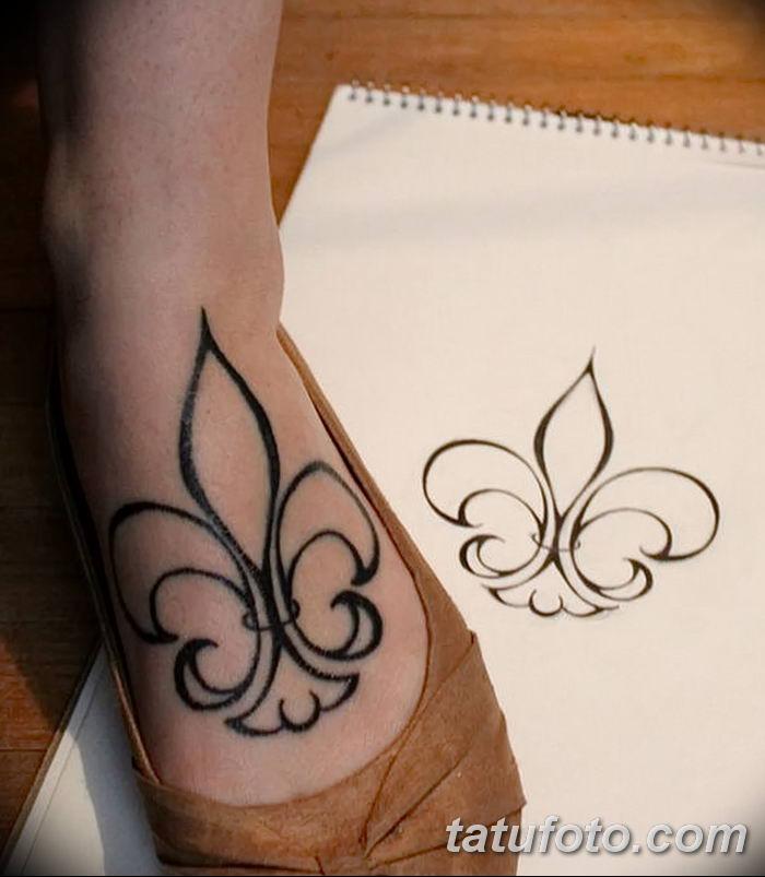 эскиз тату геральдическая лилия 12.11.2018 №002 - sketch tattoo heraldic lily - tatufoto.com