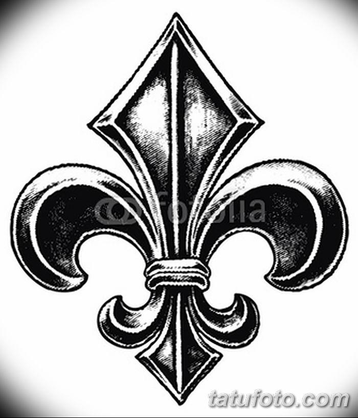 эскиз тату геральдическая лилия 12.11.2018 №004 - sketch tattoo heraldic lily - tatufoto.com