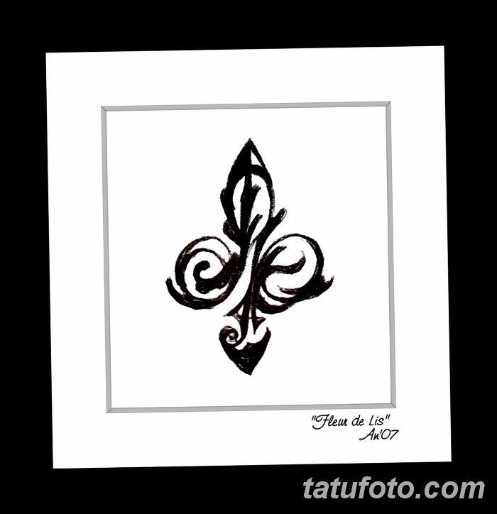 эскиз тату геральдическая лилия 12.11.2018 №005 - sketch tattoo heraldic lily - tatufoto.com
