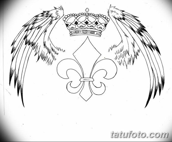 эскиз тату геральдическая лилия 12.11.2018 №006 - sketch tattoo heraldic lily - tatufoto.com