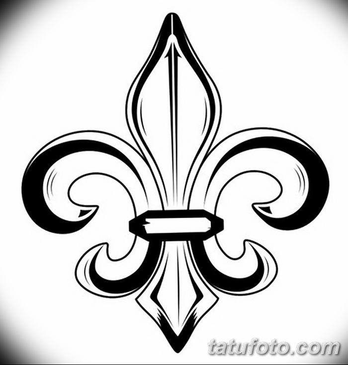 эскиз тату геральдическая лилия 12.11.2018 №007 - sketch tattoo heraldic lily - tatufoto.com