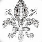 эскиз тату геральдическая лилия 12.11.2018 №009 - sketch tattoo heraldic lily - tatufoto.com