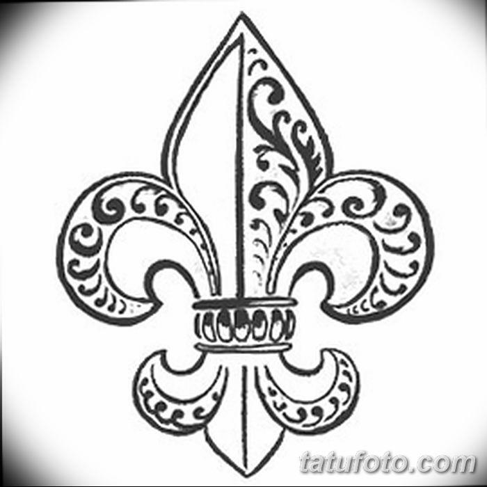 эскиз тату геральдическая лилия 12.11.2018 №010 - sketch tattoo heraldic lily - tatufoto.com