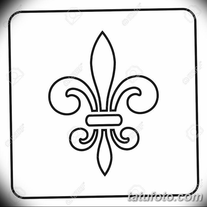 эскиз тату геральдическая лилия 12.11.2018 №021 - sketch tattoo heraldic lily - tatufoto.com