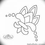 эскиз тату геральдическая лилия 12.11.2018 №022 - sketch tattoo heraldic lily - tatufoto.com