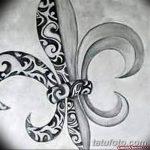 эскиз тату геральдическая лилия 12.11.2018 №023 - sketch tattoo heraldic lily - tatufoto.com