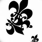 эскиз тату геральдическая лилия 12.11.2018 №025 - sketch tattoo heraldic lily - tatufoto.com