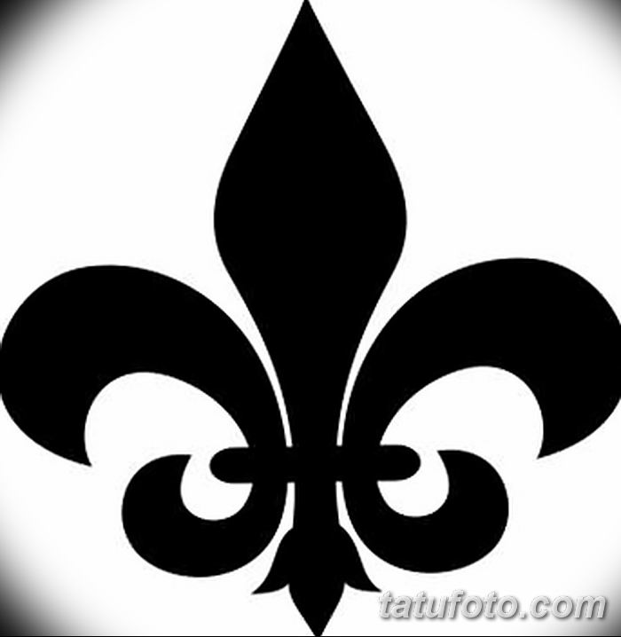 эскиз тату геральдическая лилия 12.11.2018 №026 - sketch tattoo heraldic lily - tatufoto.com