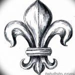 эскиз тату геральдическая лилия 12.11.2018 №028 - sketch tattoo heraldic lily - tatufoto.com
