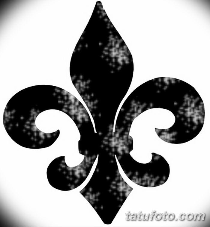 эскиз тату геральдическая лилия 12.11.2018 №029 - sketch tattoo heraldic lily - tatufoto.com