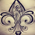 эскиз тату геральдическая лилия 12.11.2018 №031 - sketch tattoo heraldic lily - tatufoto.com