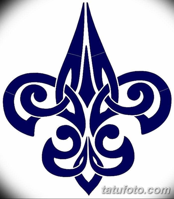 эскиз тату геральдическая лилия 12.11.2018 №034 - sketch tattoo heraldic lily - tatufoto.com