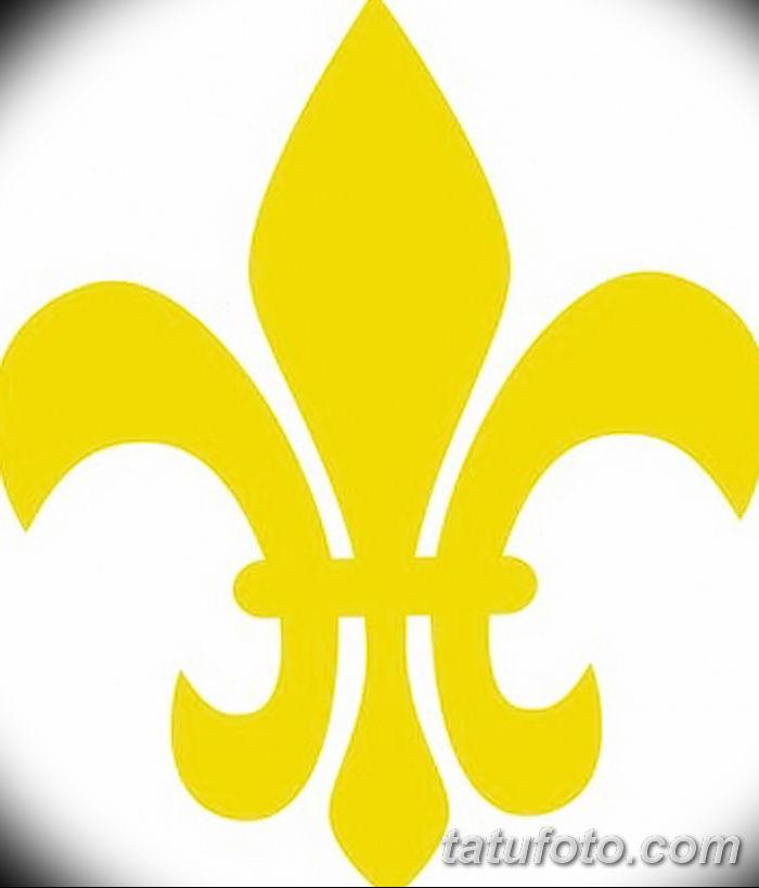 эскиз тату геральдическая лилия 12.11.2018 №038 - sketch tattoo heraldic lily - tatufoto.com