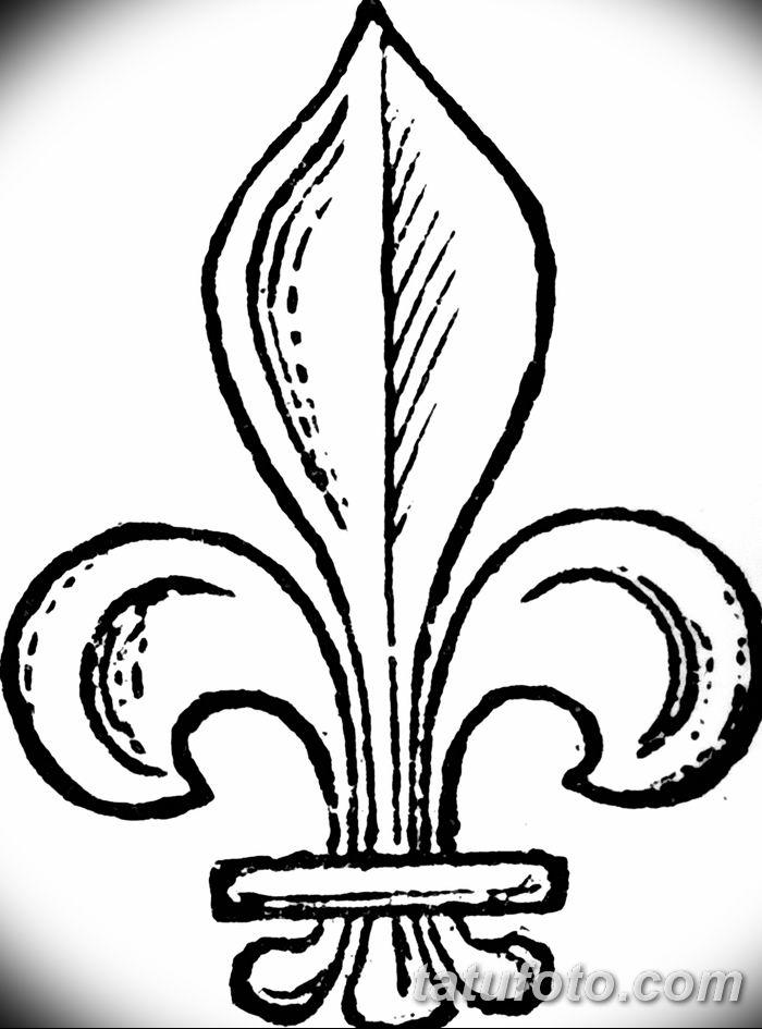 эскиз тату геральдическая лилия 12.11.2018 №041 - sketch tattoo heraldic lily - tatufoto.com