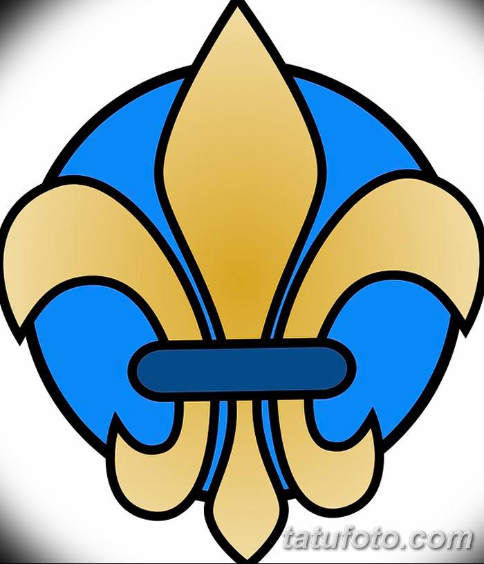 эскиз тату геральдическая лилия 12.11.2018 №044 - sketch tattoo heraldic lily - tatufoto.com