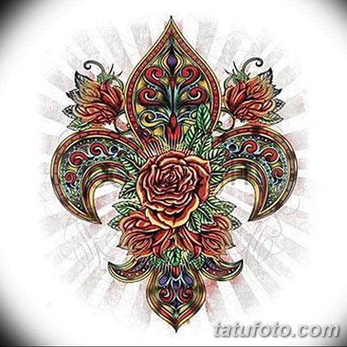 эскиз тату геральдическая лилия 12.11.2018 №048 - sketch tattoo heraldic lily - tatufoto.com