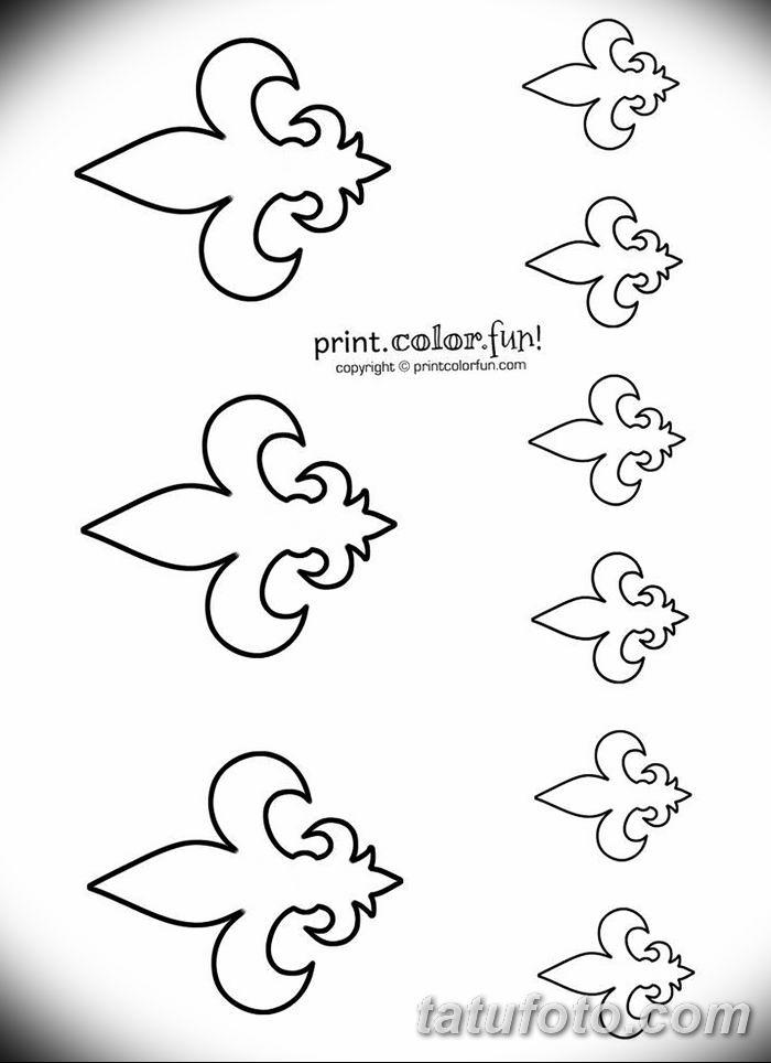 эскиз тату геральдическая лилия 12.11.2018 №050 - sketch tattoo heraldic lily - tatufoto.com